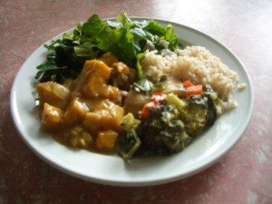 Permaculture meals at Maungaraeeda