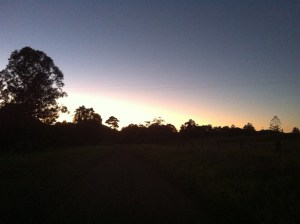 Sunrise whilst going for a healthy walk, sustainable health