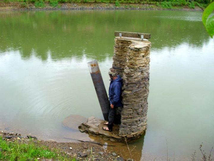 Pond overflow pipe design for Koi pond overflow design