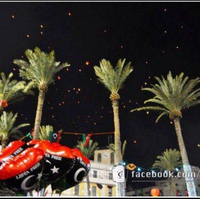 Lanterne in cielo per l'anniversario della rivolta libica