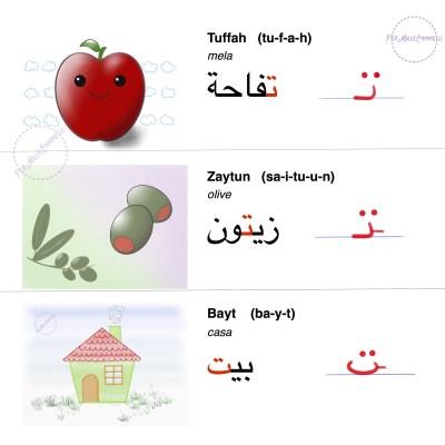 parole con lettera Taa arabo