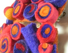Wet Felted Beads
