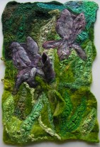 Felted and Stitched Wall Hanging