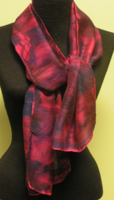 Dyed Wool and Silk Scarf