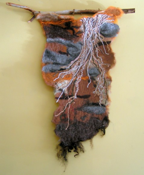 Needle Felted Wall Hanging, Roots