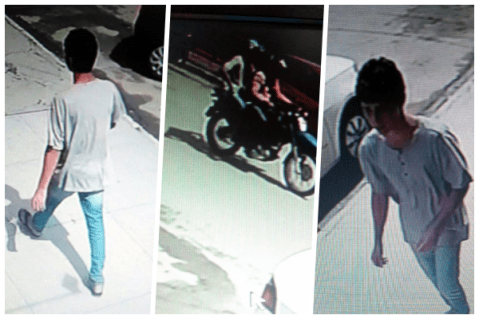 VEJA: Foto do suspeito de roubar mototaxista é divulgada na internet
