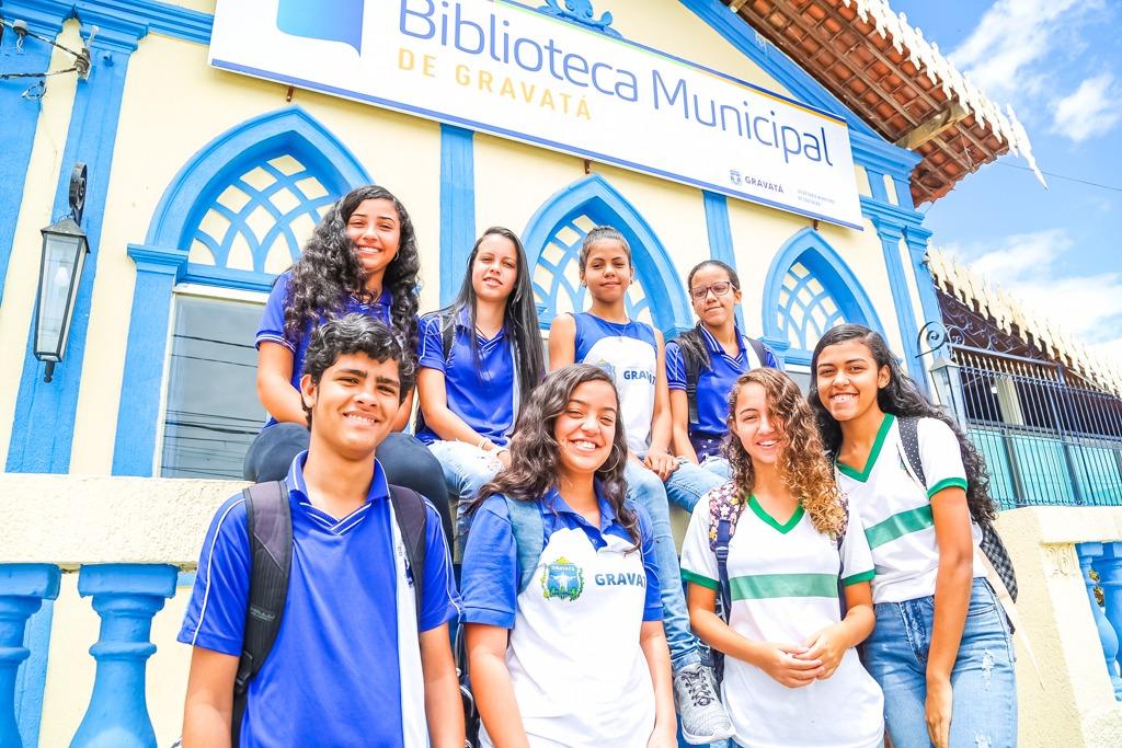 Estudantes da rede municipal participaram de aula sobre meio ambiente na Biblioteca Pública Municipal