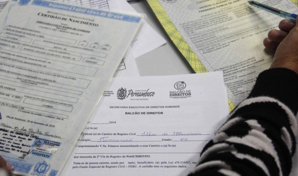 Recife, Palmares e Manari recebem serviços para a emissão gratuita de certidões