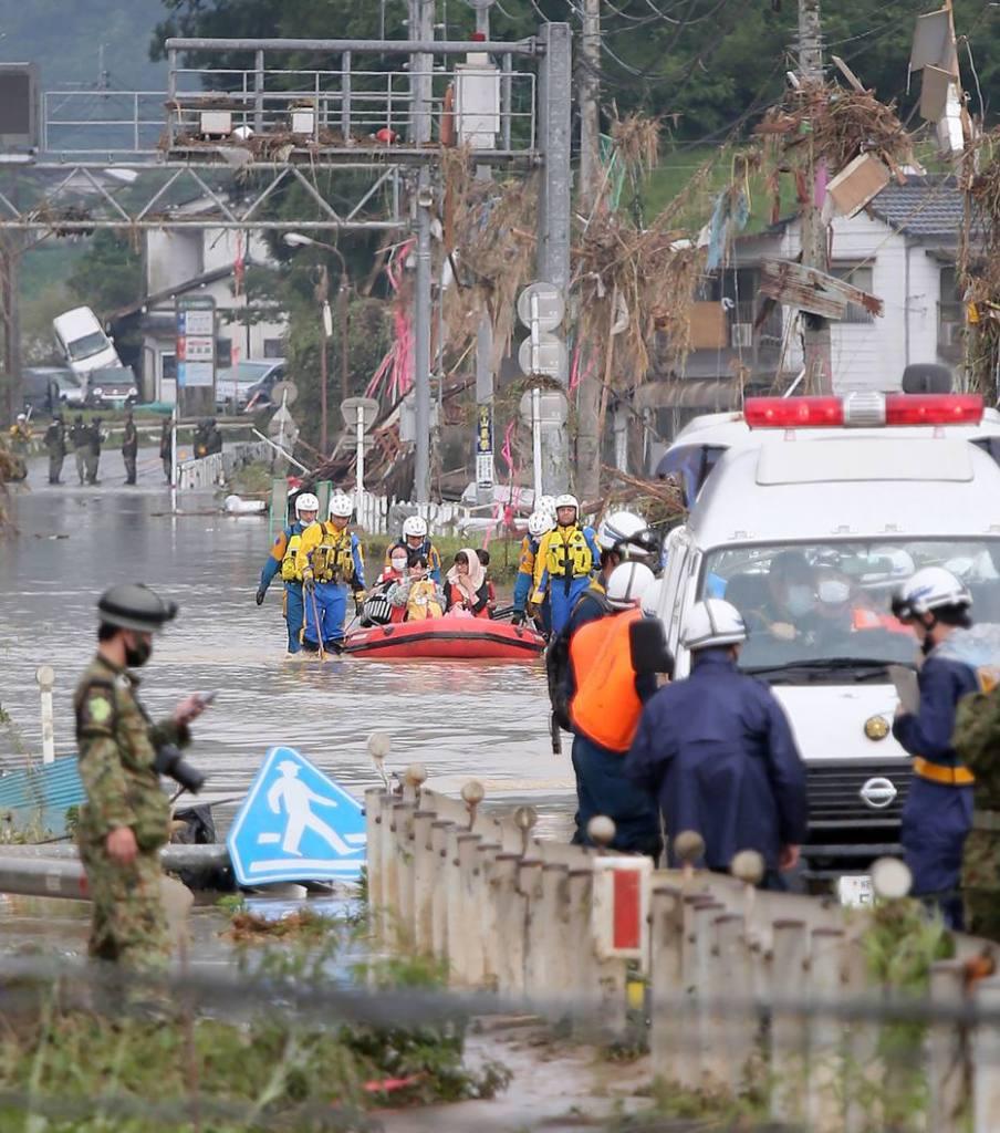 Japão: 16 pessoas morrem após tempestade provocar inundação Kumamoto