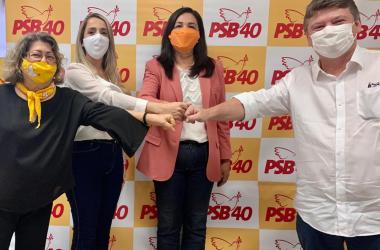 Pré-candidatas de Goiana recebem apoio de Sileno Guedes