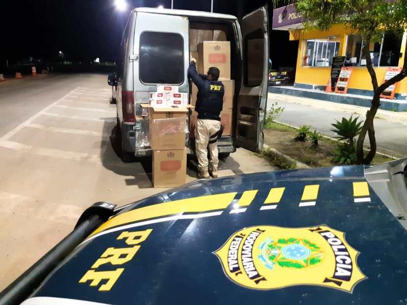 Carga de 70  mil maços de cigarro paraguaio é apreendida em Garanhuns
