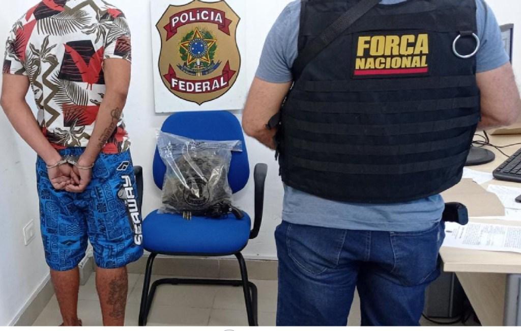 Paulista: Ação conjunta da Polícia Federal e Força Nacional prende um suspeito com maconha e arma de fogo