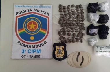 PM prende homem suspeito de tráfico de drogas em Itambé