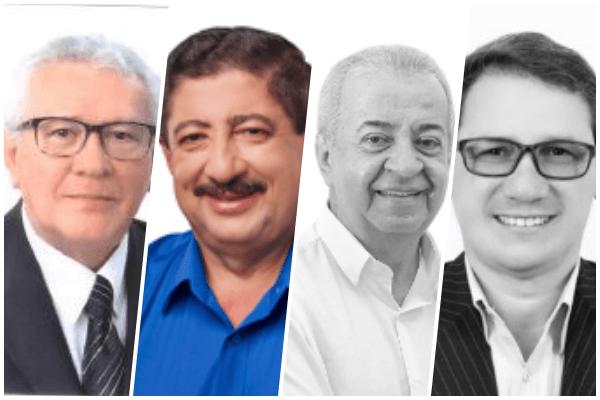 Os quatro candidatos a prefeito de Gravatá