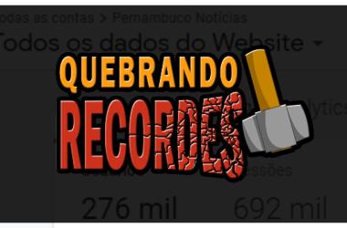 Volume de acesso do Pernambuco Notícias aumenta em 6x nas últimas 24 horas