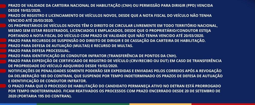 Detran de Pernambuco prorroga prazo para diversos serviços; confira quais