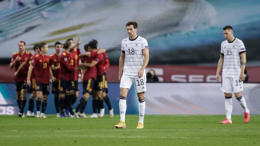 Alemanha é derrotada pela Espanha em 6x0 e brasileiros vibram na internet
