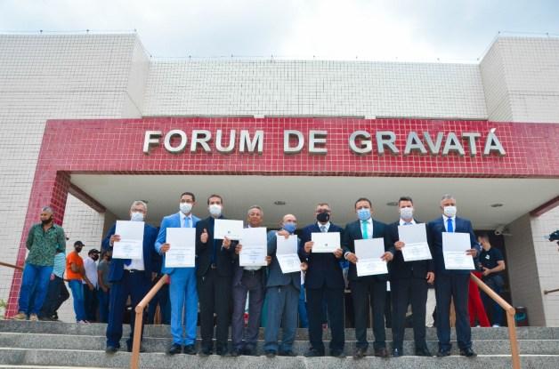 Vereadores de Gravatá são diplomados pela 30ª ZE