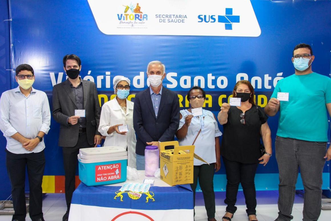 Vitória de Santo Antão começa a vacinar contra a COVID-19.