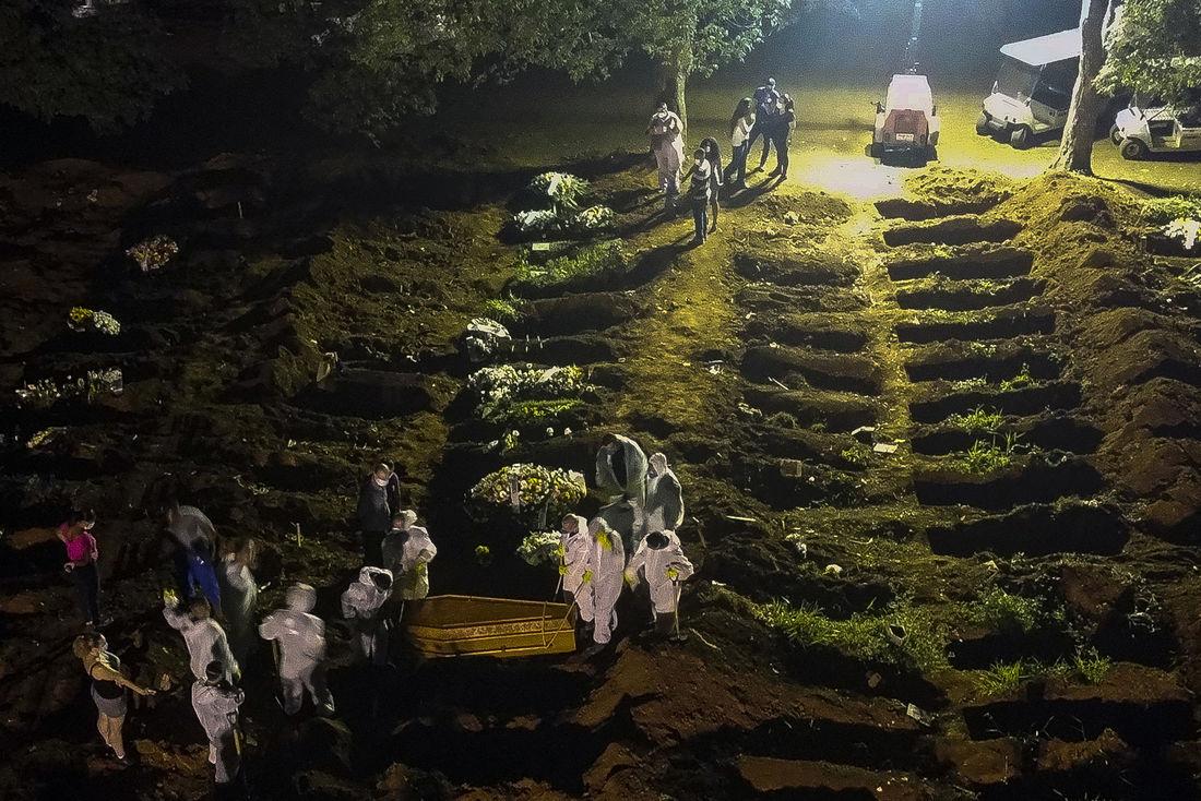 Brasil tem novo recorde de mortes por Covid-19: 3.650 em 24 horas