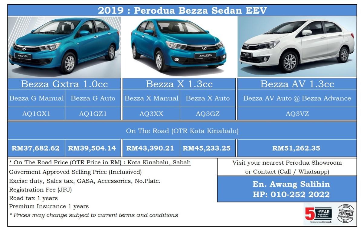 2021 perodua bezza 1.3 advance sedan. Bezza Harga Kereta 2019