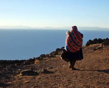 Nad Jeziorem Titicaca. (Fot. Joanna M. Chrzanowska)