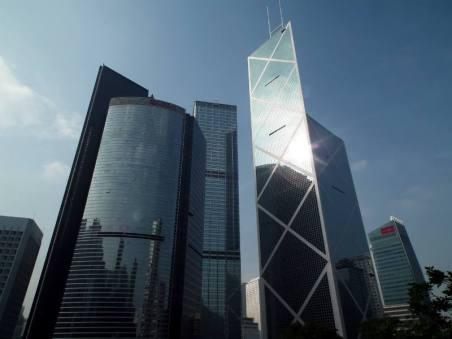 Siedziba Bank Of China w Hongkongu. (Fot. Rafał Sigiel)