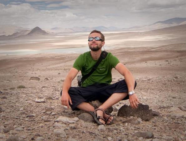 Mikołaj podczas wyprawy trekkingowej w Tadżykistanie. (fot. Mikołaj Korwin Kochanowski)
