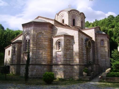 Grecja. Klasztor świętego Dionizosa.