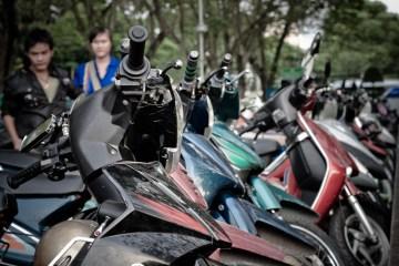 Skutery w Sajgonie.