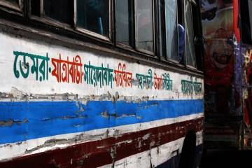 Rozklekotany azjatycki autobus