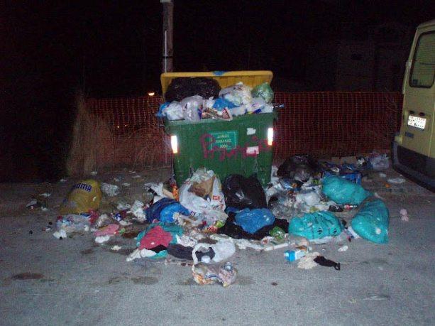 Strajk śmieciarzy w Salonikach