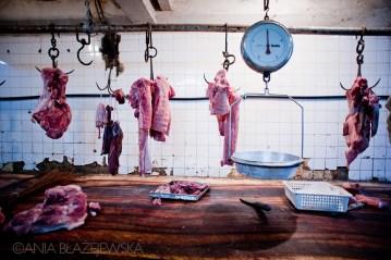 Azjatycki bazar z mięsem