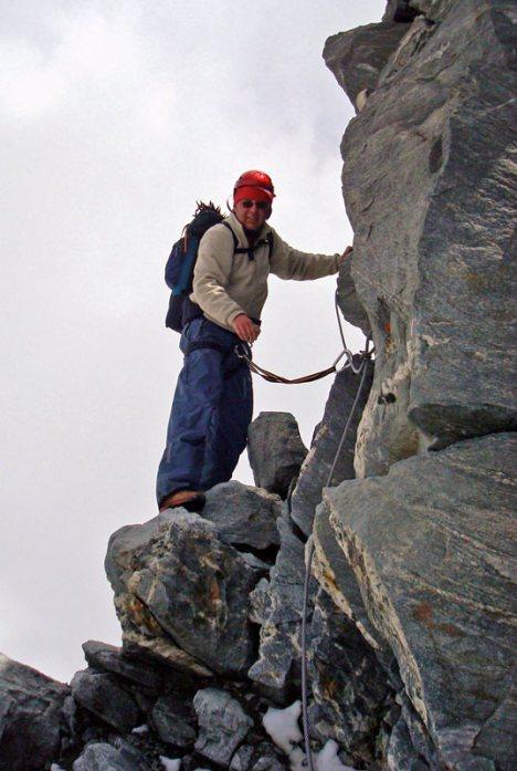 Zejście z Mount Blanc