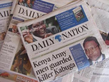 Daily Nation - najpopularniejszy kenijski dziennik w języku angielskim. (Fot. Michał Janik)