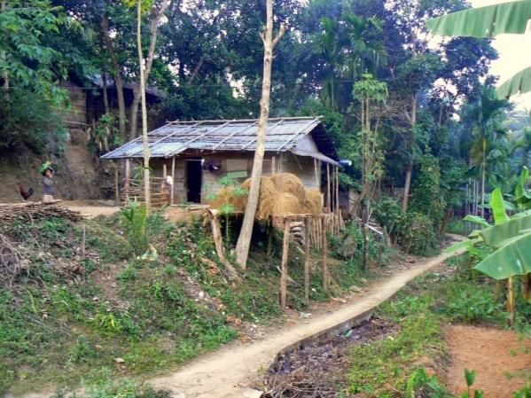 Dom w wiosce Rangapani.