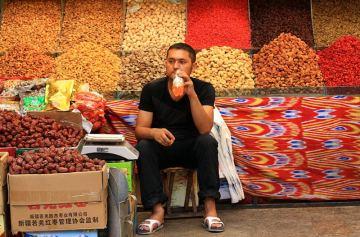 Uliczny market w Chinach