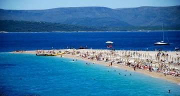Piękna plaża na Chorwacji