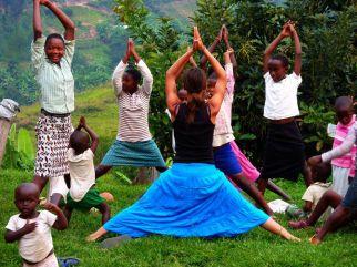 Wolontariat w Rwandzie - zajęcia z jogi