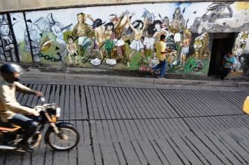 Osobliwy street art