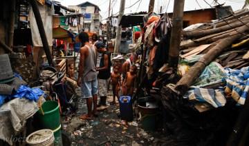 Codzienność w biednej dzielnicy w Metro Manila