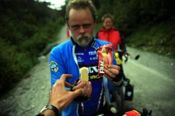 Rowerzyści podróżujący przez Chile