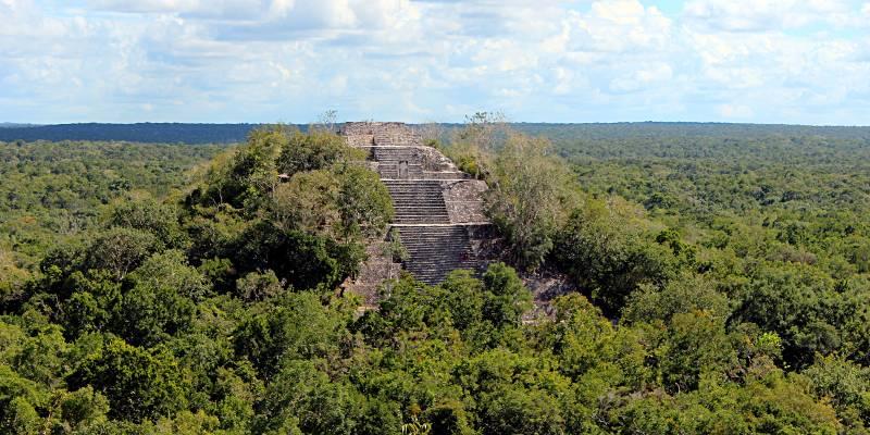 Meksyk, Gwatemala - piramidy Majów