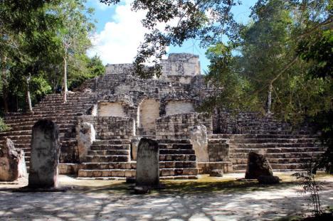 Ruiny świątyni Majów.