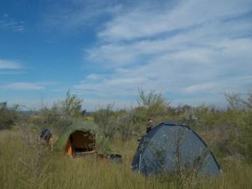 Jeden z naszych obozów. (Fot. Monika Radzikowska)