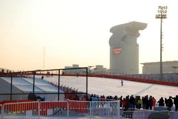 Sztuczny stok narciarski w Pekinie
