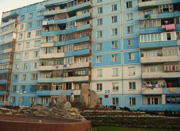 Bloki w rosyjskim mieście