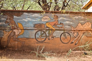 Street art na ulicach Burkina Faso - foto
