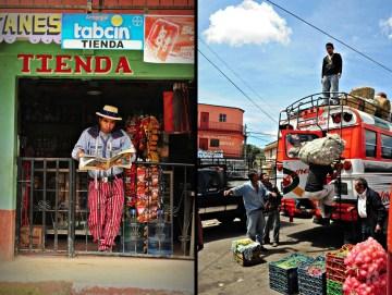 Relacja z podróży do Gwatemali - dworzec autobusowy