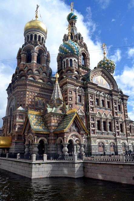 Zabytki Sankt Petersburga - cerkiew na Krwi